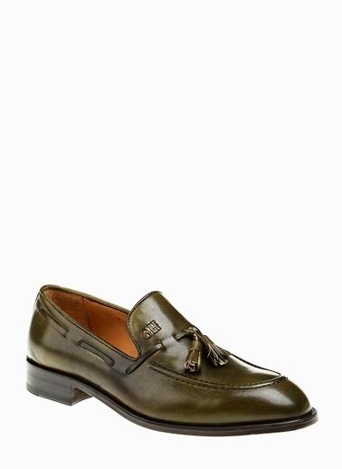 George Hogg %100 Deri Loafer Ayakkabı Haki